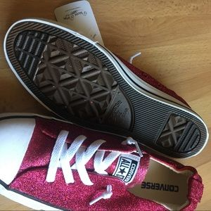 6baeb7fcc67010 Converse Shoes - Converse Shoreline Raspberry Pink Glitter Sneakers