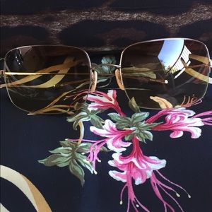 """Oliver Peoples Accessories - Oliver Peoples """"Encore"""" wire frame sunglasses"""