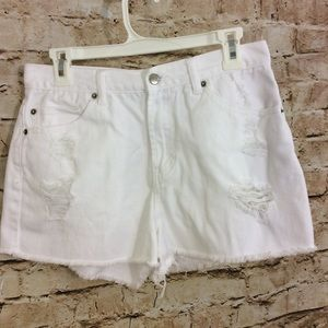 2.1 Denim Pants - 2.1 denim White distressed size 30 denim shorts