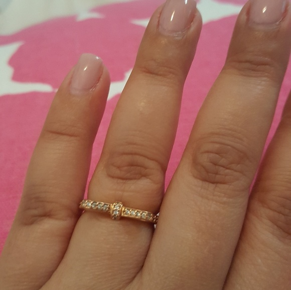 54e266625 Pandora Jewelry | Sparkling Bow Ring In Rose | Poshmark