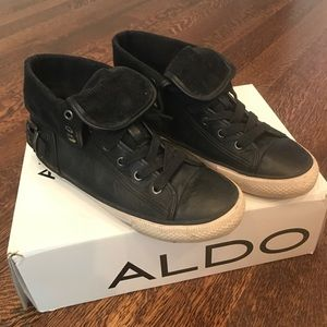 Aldo Black High Top Sneakers