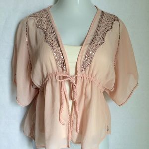 Andrew & Co Tops - Andrew & Co chiffon & sequin top