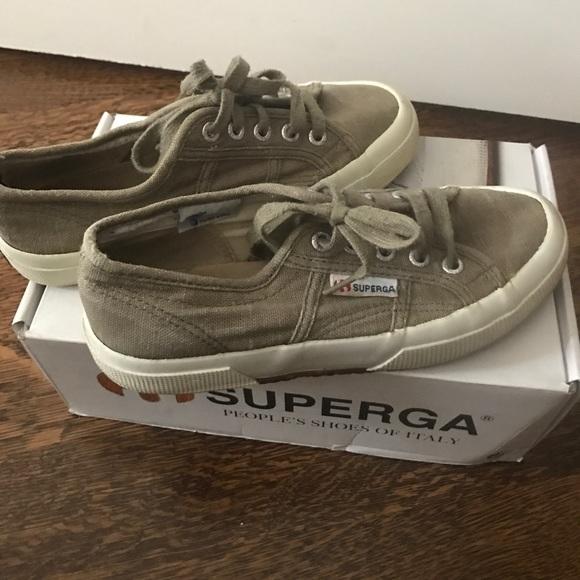 Superga Shoes   Superga Olive Green