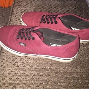 Shoes - Burgundy VANS shoes size 6