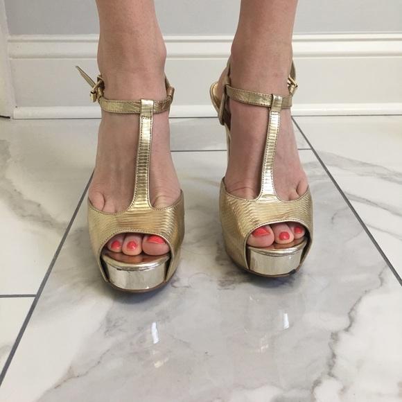 88 gianni bini shoes size 7 gianni bono gold