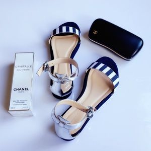 🍋HP🍋Brand new J.crew striped sandals NWT