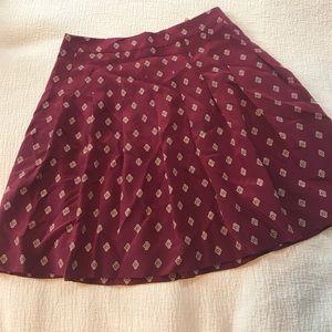 J.crew silk pleated mini skirt