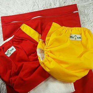 Other - Bundle of 5 items,  cloth diapers and wet bag. Kid