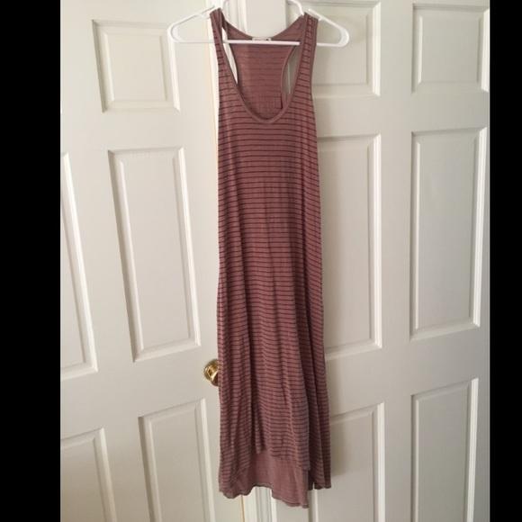 698267108418b2 SUNDRY Dresses | Racerback Jersey Maxi Dress Striped | Poshmark