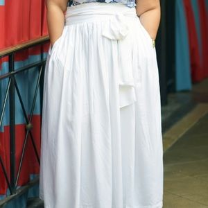 6a7cd9b3a Jibri Skirts | High Waist Belted Maxi Skirt Size 1820 | Poshmark
