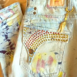 Robins Jeans Other - Robins Jeans - MultiColored/Paint Splatter *RARE*
