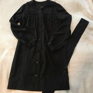 BCBGMaxAzria black button-down dress