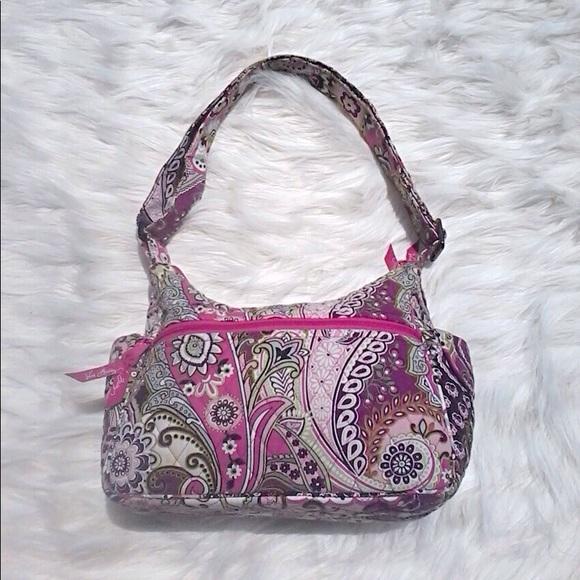 75a3f1741ea Vera Bradley Bags   Purple Green Paisley Cloth Purse   Poshmark