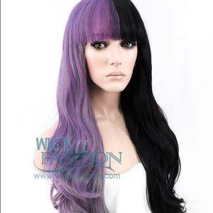 Melanie Martinez Half Black Half Purple Wig