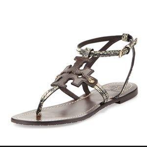 Tory Burch Shoes - Auth Tory Burch logo thong sandals