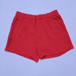 J. Crew Pants - J. Crew red pleated crepe dress short