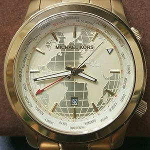 World Map Watch Michael Kors.Michael Kors Accessories Big Salenwt World Map Watch Poshmark