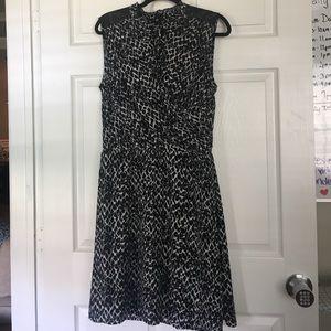 H&M black and white print chiffon dress