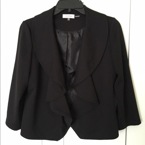 Calvin Klein Jackets & Blazers - Calvin Klein cropped cascading blazer in black