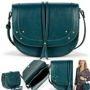 "Sole Society Handbags - Nwt! Sole Society ""Faylina"" Studded Saddlebag"