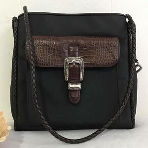 Brighton Handbags - •Brighton• Black Leather Bag