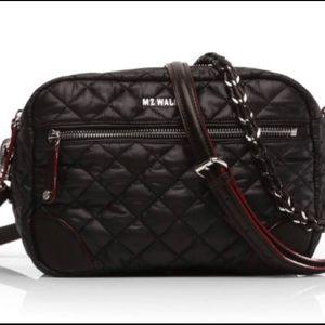 MZ Wallace Handbags - MZ Wallace Small Black Oxford Crosby Nylon Bag