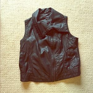 CoffeeShop Jackets & Blazers - NEVER WORN; leather vest