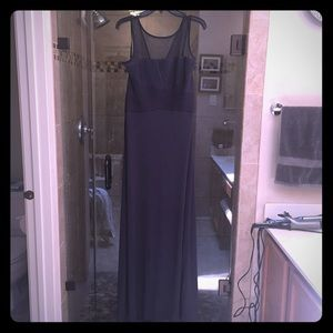 Calvin Klein full length gown slate grey 10
