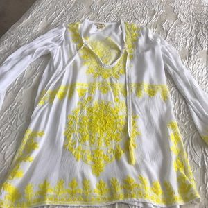 Embroidered Tunic or Beach Cover Up, New, Sz S