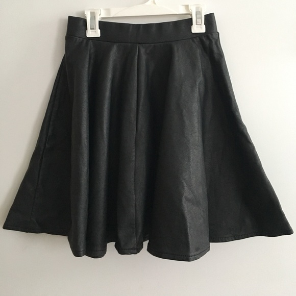 Topshop Dresses & Skirts -  Black pleather circle skirt
