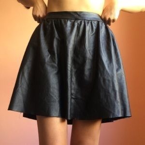 Topshop Skirts -  Black pleather circle skirt