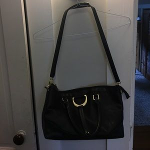 London Fog Black Leather Women's Purse
