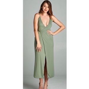 Dresses & Skirts - Olive Wrap Dress