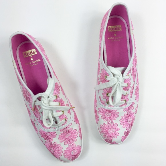 47cbb6530594 Keds Kate Spade Shoes - Keds x Kate Spade Pink Daisy Embroidery Sneaker