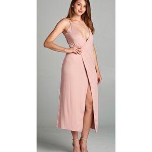Dresses & Skirts - Pink Wrap Dress