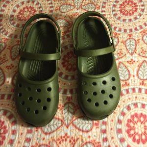 CROCS Shoes - Green crocs.