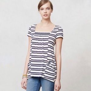 Anthropologie Meadow Rue Marin Striped Tunic Top