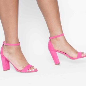 Shoes - Chic in Pink Block Heels