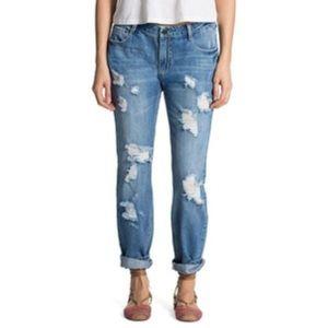 Banjara Distressed Girlfriend Fit Jeans NWT