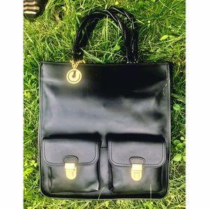 Charles Jourdan Handbags - CHARLES JOURDAN RAE NEW Structured Tote Gold Hrdwr