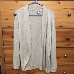 Shimmery Gray/Silver Open Cardigan