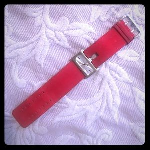 Accessories - Unique Red Velvet Watch with Silver Face