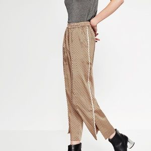 Zara Geometric Print Trousers Pajama Style Pants