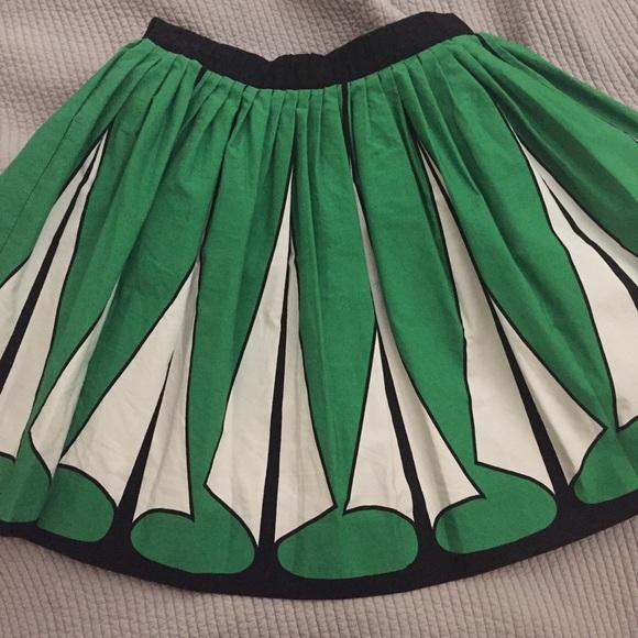 Zara Skirts - ZARA Woman | Art Deco Circle Skirt
