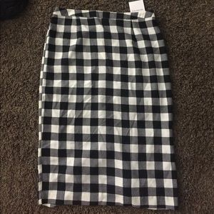 Who What Wear Gingham Pencil Skirt Sz16