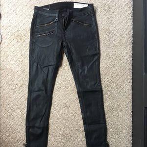 rag & bone Pants - Rag & Bone leather looking pants