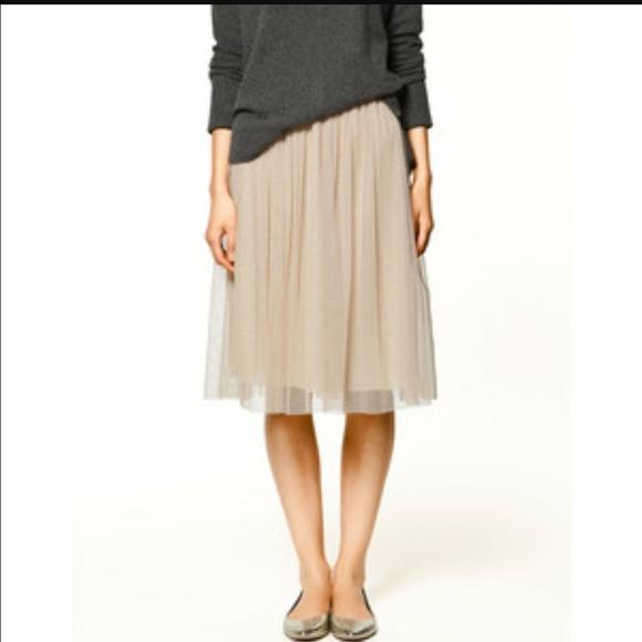 7dcbf1bb2c Zara Skirts | Hp Tulle Skirt | Poshmark