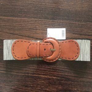 Anthropologie Accessories - NWT Anthropologie leather trim belt