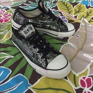 68df468b836f ... RARE W6 M4 Converse OX striped sequin sneakers ...