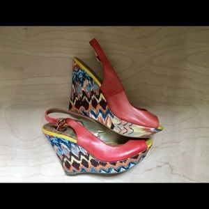 G by Guess Shoes - Guess Coral Boho pattern Wedges